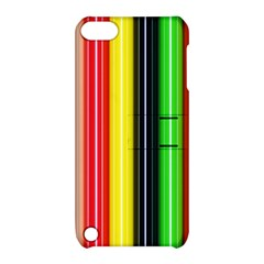 Colorful Striped Background Wallpaper Pattern Apple Ipod Touch 5 Hardshell Case With Stand by Amaryn4rt