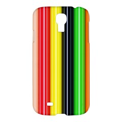 Colorful Striped Background Wallpaper Pattern Samsung Galaxy S4 I9500/i9505 Hardshell Case by Amaryn4rt