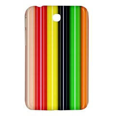 Colorful Striped Background Wallpaper Pattern Samsung Galaxy Tab 3 (7 ) P3200 Hardshell Case  by Amaryn4rt