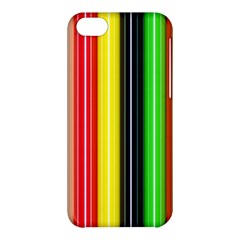 Colorful Striped Background Wallpaper Pattern Apple Iphone 5c Hardshell Case