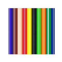 Colorful Striped Background Wallpaper Pattern Small Satin Scarf (square) by Amaryn4rt