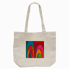 Modern Abstract Colorful Stripes Wallpaper Background Tote Bag (cream)