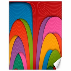 Modern Abstract Colorful Stripes Wallpaper Background Canvas 12  X 16   by Amaryn4rt