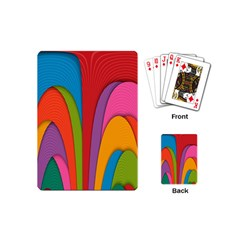 Modern Abstract Colorful Stripes Wallpaper Background Playing Cards (mini)  by Amaryn4rt