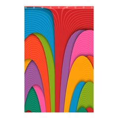 Modern Abstract Colorful Stripes Wallpaper Background Shower Curtain 48  X 72  (small)