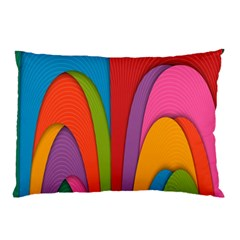 Modern Abstract Colorful Stripes Wallpaper Background Pillow Case (two Sides) by Amaryn4rt