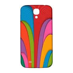 Modern Abstract Colorful Stripes Wallpaper Background Samsung Galaxy S4 I9500/i9505  Hardshell Back Case by Amaryn4rt