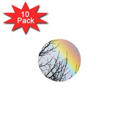 Rainbow Sky Spectrum Rainbow Colors 1  Mini Buttons (10 Pack)  by Amaryn4rt