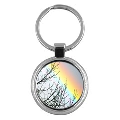 Rainbow Sky Spectrum Rainbow Colors Key Chains (round)  by Amaryn4rt