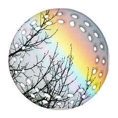 Rainbow Sky Spectrum Rainbow Colors Round Filigree Ornament (two Sides) by Amaryn4rt