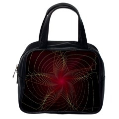 Fractal Red Star Isolated On Black Background Classic Handbags (one Side) by Amaryn4rt
