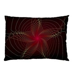 Fractal Red Star Isolated On Black Background Pillow Case by Amaryn4rt