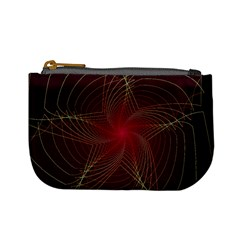Fractal Red Star Isolated On Black Background Mini Coin Purses