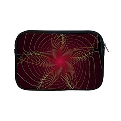 Fractal Red Star Isolated On Black Background Apple Ipad Mini Zipper Cases by Amaryn4rt