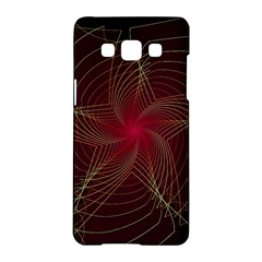 Fractal Red Star Isolated On Black Background Samsung Galaxy A5 Hardshell Case  by Amaryn4rt
