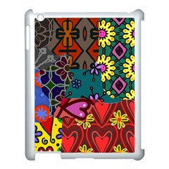 Digitally Created Abstract Patchwork Collage Pattern Apple Ipad 3/4 Case (white) by Amaryn4rt