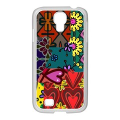 Digitally Created Abstract Patchwork Collage Pattern Samsung Galaxy S4 I9500/ I9505 Case (white) by Amaryn4rt