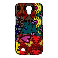 Digitally Created Abstract Patchwork Collage Pattern Samsung Galaxy Mega 6 3  I9200 Hardshell Case by Amaryn4rt
