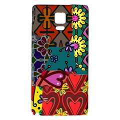 Digitally Created Abstract Patchwork Collage Pattern Galaxy Note 4 Back Case by Amaryn4rt