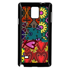 Digitally Created Abstract Patchwork Collage Pattern Samsung Galaxy Note 4 Case (black) by Amaryn4rt