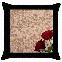 Retro Background Scrapbooking Paper Throw Pillow Case (black) by Amaryn4rt