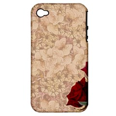 Retro Background Scrapbooking Paper Apple Iphone 4/4s Hardshell Case (pc+silicone) by Amaryn4rt
