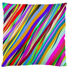 Multi Color Tangled Ribbons Background Wallpaper Large Cushion Case (two Sides) by Amaryn4rt