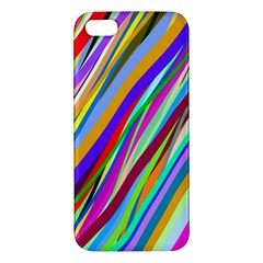 Multi Color Tangled Ribbons Background Wallpaper Apple Iphone 5 Premium Hardshell Case