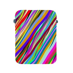 Multi Color Tangled Ribbons Background Wallpaper Apple Ipad 2/3/4 Protective Soft Cases