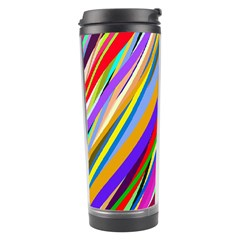 Multi Color Tangled Ribbons Background Wallpaper Travel Tumbler by Amaryn4rt