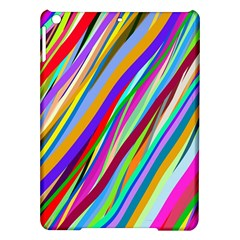 Multi Color Tangled Ribbons Background Wallpaper Ipad Air Hardshell Cases by Amaryn4rt