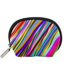 Multi Color Tangled Ribbons Background Wallpaper Accessory Pouches (small)