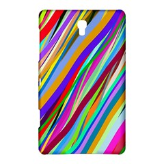 Multi Color Tangled Ribbons Background Wallpaper Samsung Galaxy Tab S (8 4 ) Hardshell Case  by Amaryn4rt