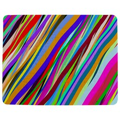 Multi Color Tangled Ribbons Background Wallpaper Jigsaw Puzzle Photo Stand (rectangular) by Amaryn4rt