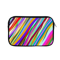Multi Color Tangled Ribbons Background Wallpaper Apple Macbook Pro 13  Zipper Case