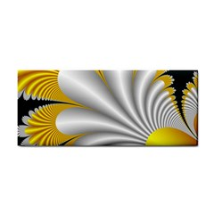 Fractal Gold Palm Tree On Black Background Cosmetic Storage Cases by Amaryn4rt