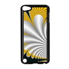 Fractal Gold Palm Tree On Black Background Apple Ipod Touch 5 Case (black) by Amaryn4rt