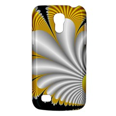 Fractal Gold Palm Tree On Black Background Galaxy S4 Mini by Amaryn4rt