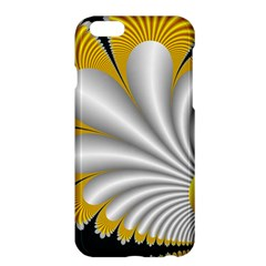 Fractal Gold Palm Tree On Black Background Apple Iphone 6 Plus/6s Plus Hardshell Case by Amaryn4rt
