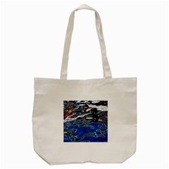 Colorful Reflections In Water Tote Bag (cream) by Amaryn4rt