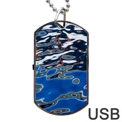 Colorful Reflections In Water Dog Tag Usb Flash (one Side) by Amaryn4rt