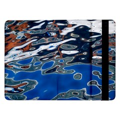 Colorful Reflections In Water Samsung Galaxy Tab Pro 12 2  Flip Case by Amaryn4rt