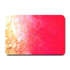 Abstract Red And Gold Ink Blot Gradient Small Doormat  by Amaryn4rt