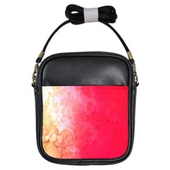 Abstract Red And Gold Ink Blot Gradient Girls Sling Bags by Amaryn4rt