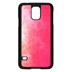 Abstract Red And Gold Ink Blot Gradient Samsung Galaxy S5 Case (black) by Amaryn4rt
