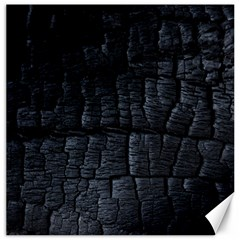 Black Burnt Wood Texture Canvas 20  X 20   by Amaryn4rt
