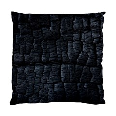 Black Burnt Wood Texture Standard Cushion Case (one Side) by Amaryn4rt