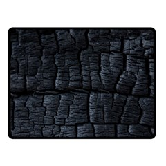 Black Burnt Wood Texture Fleece Blanket (small) by Amaryn4rt