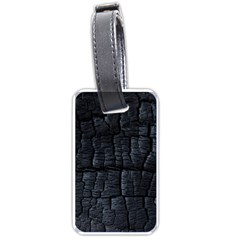 Black Burnt Wood Texture Luggage Tags (one Side)  by Amaryn4rt