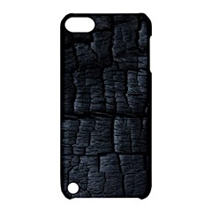 Black Burnt Wood Texture Apple Ipod Touch 5 Hardshell Case With Stand by Amaryn4rt